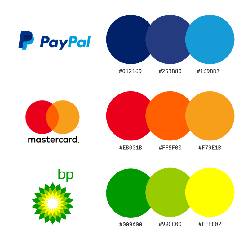 color palette in branding